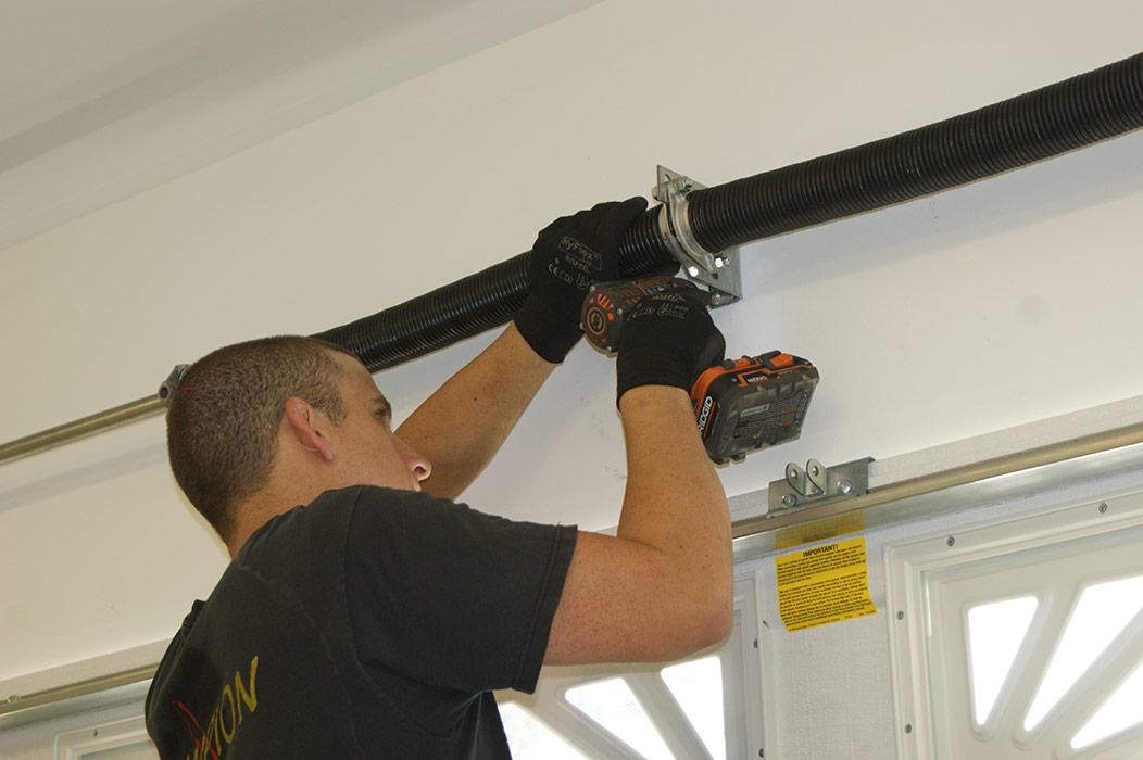 fix garage doorGarage door broken spring repair  torsion spring repair